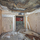 Room in an old abandoned Soviet shelter with decorative antique columns - PhotoDune Item for Sale