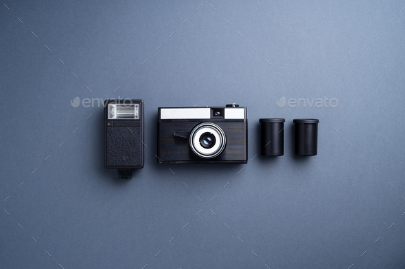 Analog camera and accessories - Stock Photo - Images