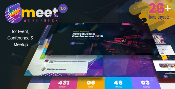 Emeet - Event, Conference and Meetup WordPress Theme