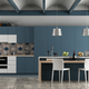 White and blue contemporary kitchen - PhotoDune Item for Sale