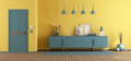Yellow and blue home entence - PhotoDune Item for Sale