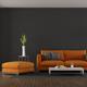Modern living room with orange sofa - PhotoDune Item for Sale