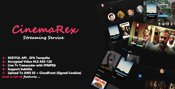 CinemaRex - Streaming Service - CodeCanyon Item for Sale