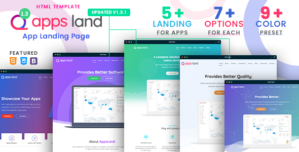 AppsLand - App Landing Page HTML Template - Apps Technology