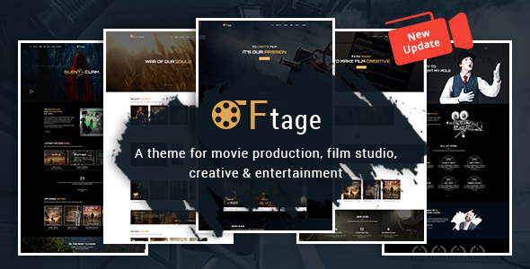 Movie Production, Film studio, Creative & Entertainment Wordpress Theme - Film & TV Entertainment