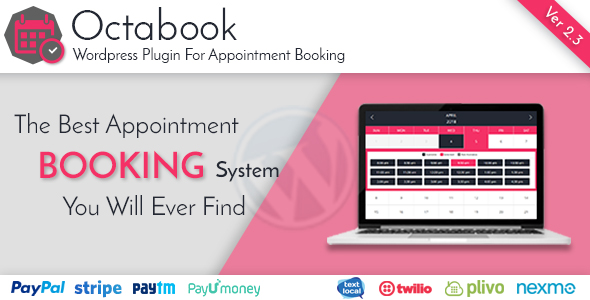 Octabook appointment scheduling software system for wordpress