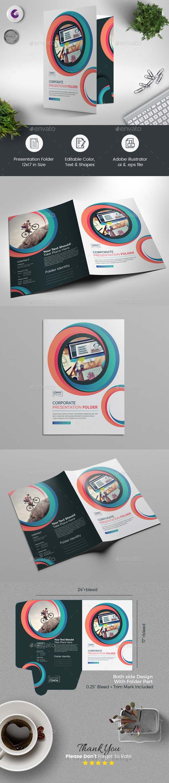 Multicolored Presentation Folder - Stationery Print Templates