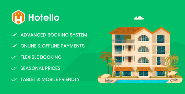 Hotello - Hotel Booking WordPress theme Free Download | Nulled