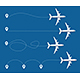 Realistic Detailed 3d Plane and Track Set. Vector - GraphicRiver Item for Sale