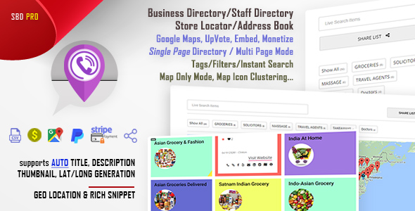 Simple Business Directory with Maps, Store Locator, Distance Search - CodeCanyon Item for Sale