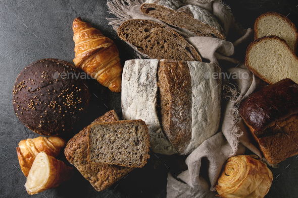 Variety of fresh baked bread - Stock Photo - Images