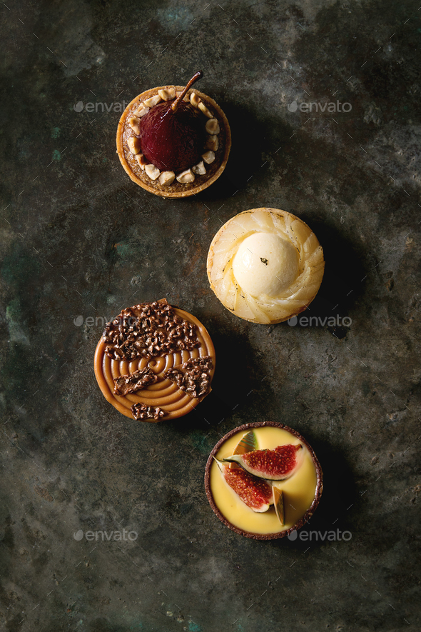 Variety of sweet tartlets - Stock Photo - Images