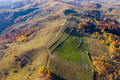 Aerial view of beautiful autumn hills and colorful forest from a drone. Transylvania, Romania - PhotoDune Item for Sale