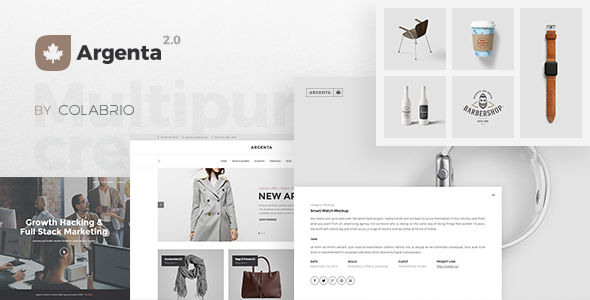 Argenta - Creative Multipurpose WordPress Theme