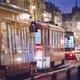 Tram in traffic jam - PhotoDune Item for Sale