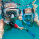 Snorkeling couple in love taking selfie underwater - PhotoDune Item for Sale