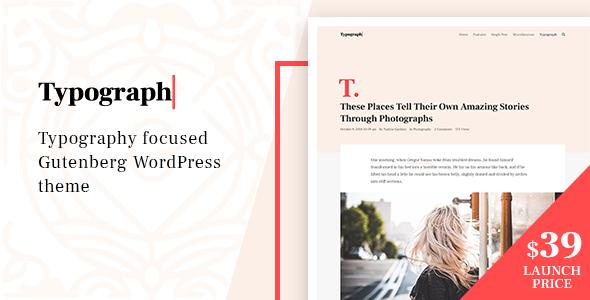 Typograph – Content Focused Gutenberg WordPress Blog Theme Free Download | Nulled