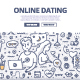 Online Dating Doodle Concept - GraphicRiver Item for Sale