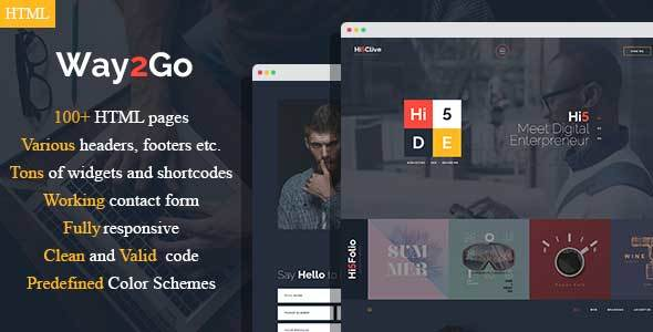 Way2Go - Digital Entrepreneur HTML Template Free Download | Nulled