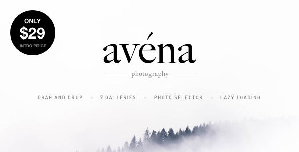 Avena - Photography WordPress for Professionals Free Download | Nulled