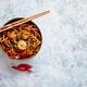 Traditional asian udon stir-fry noodles with shrimp - PhotoDune Item for Sale