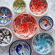 Collection of empty moroccan colorful decorative ceramic bowls - PhotoDune Item for Sale