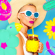 Fashion Girl. Beach Vacation Mood. Concept My colorful vacation - PhotoDune Item for Sale