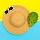 Stylish straw hat and sunglasses. Beach fashion vibes - PhotoDune Item for Sale