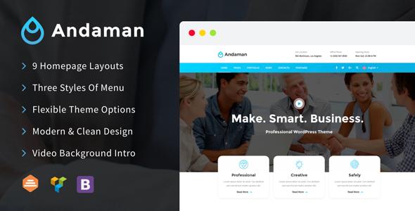 Andaman - Creative & Business WordPress Theme Free Download | Nulled