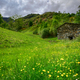 Old stone house in the flowery meadows at the foot of the mounta - PhotoDune Item for Sale