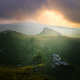 Sunset light between the mists and low clouds - PhotoDune Item for Sale