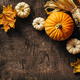 Pumpkins and corn and autumn leaves - PhotoDune Item for Sale