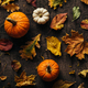 Different autumn leaves and pumpkin - PhotoDune Item for Sale