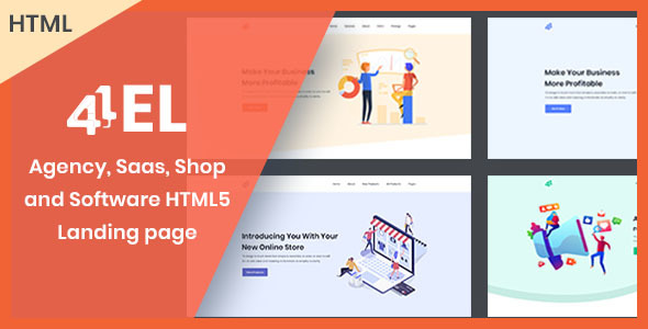 4EL - Creative Agency, Saas, Shop and Software HTML Landing page Free Download | Nulled