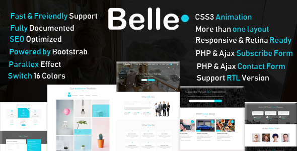 Belle - One Page HTML Template + RTL by marwaelmanawy