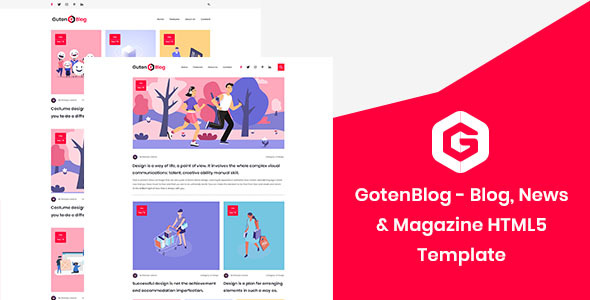GotenBlog - Blog, News & Magazine HTML5 Template Free Download | Nulled