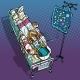 Star Fever. Astronaut Under Medical Dropper - GraphicRiver Item for Sale