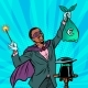 African Magician with Euro Money - GraphicRiver Item for Sale