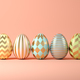 Easter eggs on pink background 3D illustration - PhotoDune Item for Sale