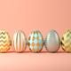 Easter eggs on pink background 3D illustration - PhotoDune Item for Sale