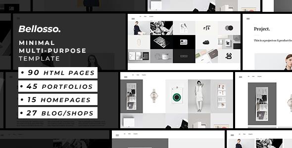 Bellosso — Minimalist Multi-Purpose Template Free Download   Nulled