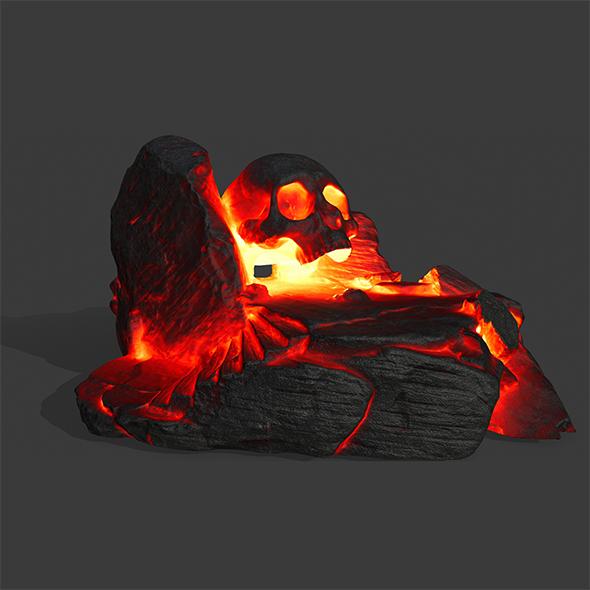 lava skull cave - 3DOcean Item for Sale