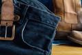 Black jeans on table - PhotoDune Item for Sale