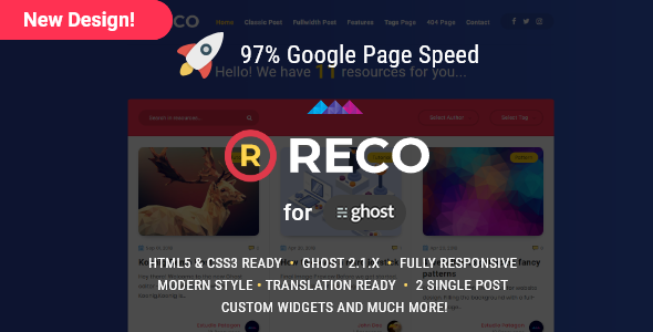 Reco - A recopilatory theme for Ghost - Ghost Themes Blogging