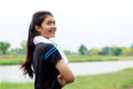 Girl of smiling in park - PhotoDune Item for Sale