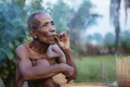 Old man are smoking in Thailand - PhotoDune Item for Sale