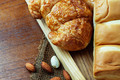 Bread on wooden background - PhotoDune Item for Sale