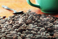 coffee beans on wooden - PhotoDune Item for Sale
