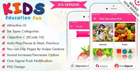 iOS Kids Education Fun - CodeCanyon Item for Sale