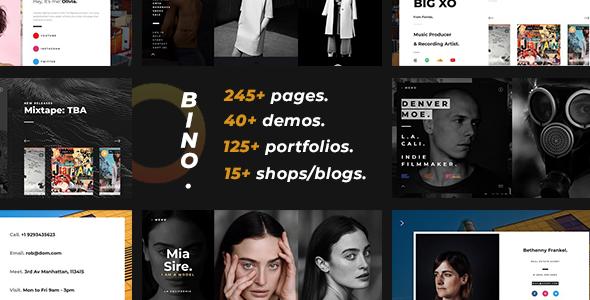 Bino — Multi-Purpose Template for Creative Agencies & Individuals Free Download | Nulled